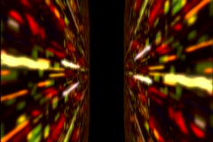 Slit Scan Light Tunnel 1 Stock Footage