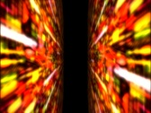 Stock Video Footage of Slit Scan Light Tunnel 1