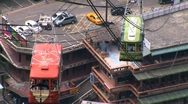 Stock Video Footage of Taiwan cable cars pass one another