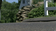 Stone Wall & Country Road 1 Stock Footage