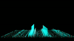 3D Equalizer Wide Shot Stock Footage
