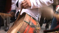 Peru drummers Stock Footage