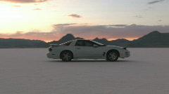 Race car Bonneville Salt Flats M HD Stock Footage