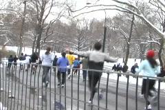 New york winter marathon 3 Stock Footage