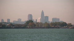 0706-A052 - Cleveland Skyline (Fall) - stock footage