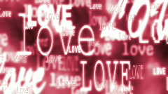 Love in red - stock footage