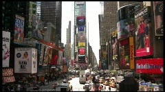 Times Square static full Stock Footage