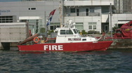 Fireboat. Stock Footage