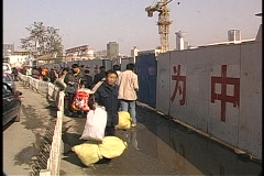 Migrant Workers in China - stock footage