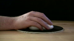 Working With A Computer Mouse Stock Footage