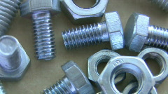 Nuts and bolts Stock Footage