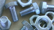 Stock Video Footage of Nuts and bolts