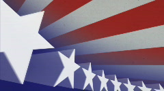 Stars and Stripes Looping Background Stock Footage