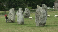 Avebury stone circle Stock Footage