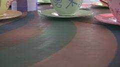 Spinning Teacups Stock Footage