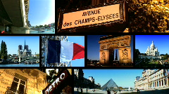 Paris destination montage Stock Footage