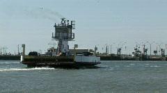 Ferry Boats turn Port Aransas M HD Stock Footage