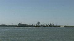 Ferry Boats crossing Port Aransas M HD Stock Footage