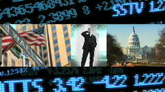 Business and financial montage Stock Footage