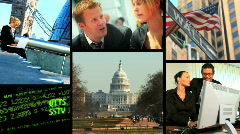 Business and communication montage Stock Footage