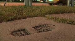 Jalka Tulosta Concrete Arkistovideo