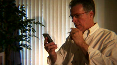 Man texting Stock Footage