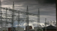 Electricity Power Distribution Station Stock Footage