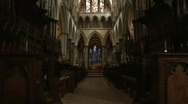 Stock Video Footage of Salisbury Cathedral hall