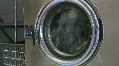 Laundromat. One washing machine. Stock Footage