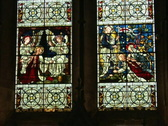 Stock Video Footage of Salisbury Church Windows