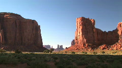 North Window Rock Formation in Monument Valley Navajo Tribal Park in Arizona Stock Footage