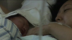 Mother & Newborn Baby 4 (Close-up) Stock Footage