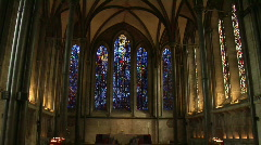 Salisbury Church Windows - stock footage