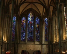 Salisbury Church Windows Stock Footage