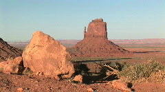 The Mittens and Merrick Butte in Monument Valley Navajo Tribal Park in Arizona  Stock Footage