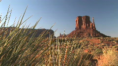 Monument Valley Landscape at Monument Valley Navajo Tribal Park in Arizona Stock Footage