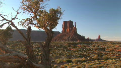 Monument Valley Navajo Tribal Park Landscape in Arizona Stock Footage