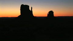 The Mittens at Monument Valley Navajo Tribal Park Sunrise in Arizona Stock Footage
