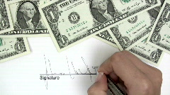 Signing Credit Agreement - stock footage