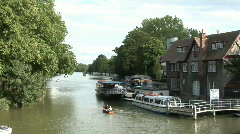 Oxford, Thames, Head of the River - stock footage