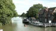 Stock Video Footage of Oxford, Thames, Head of the River