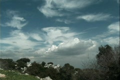 Clouds above Mount Carmel Stock Footage