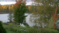 Maine pond in the fall Stock Footage