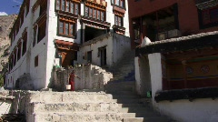 Buddhist monk in monastery Stock Footage