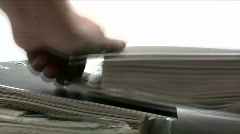 Stacking Ring Binders Stock Footage