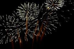 Spectacular Fireworks Display. Night sky. Stock Footage