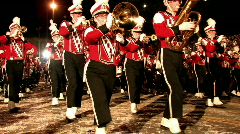 High School Marching Band night San Antonio Texas M HD Stock Footage