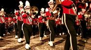High School Marching Band night San Antonio Texas M HD Stock Footage
