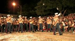 Marine Corp Marching Band night San Antonio Texas M HD Stock Footage