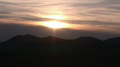 Sunset over Moutains Stock Footage